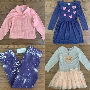 Lot Bundle Girls size 6• Dresses, Joggers & Jacket